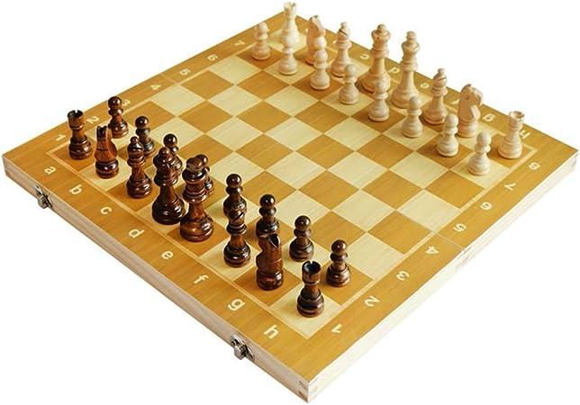 GuanJan Piezas de ajedrez magnéticas Plegables de Madera de ajedrez Caja de Trabajo de Pintura Ambiental Grande Tamaño de ajedrez liviano Ajedrez portátil Plegable de Viaje Grande (Color : Wood): Amazon.es: Hogar