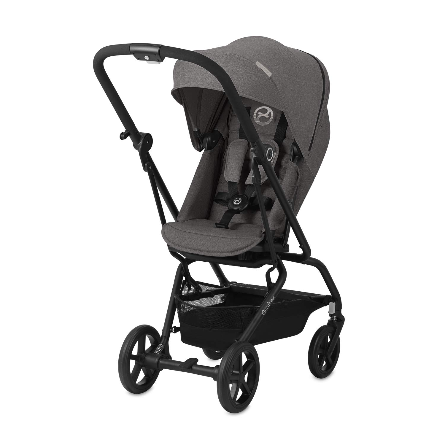 Ultra-Compact from Birth to 17 kg CYBEX Gold Eezy S Twist+ Compact Pushchair 360/° Rotatable Seat Unit Lavastone Black Lightweight Approx. 4 Years