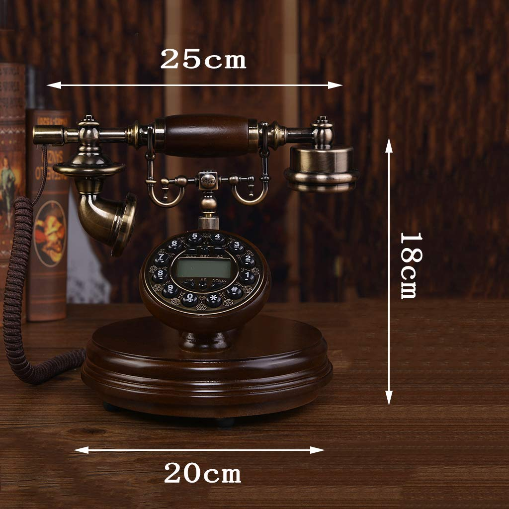 JGBHPNYX Antique Telephones Landline Solid Wood European Retro Home Fashion Creative Old Fashioned Telephone