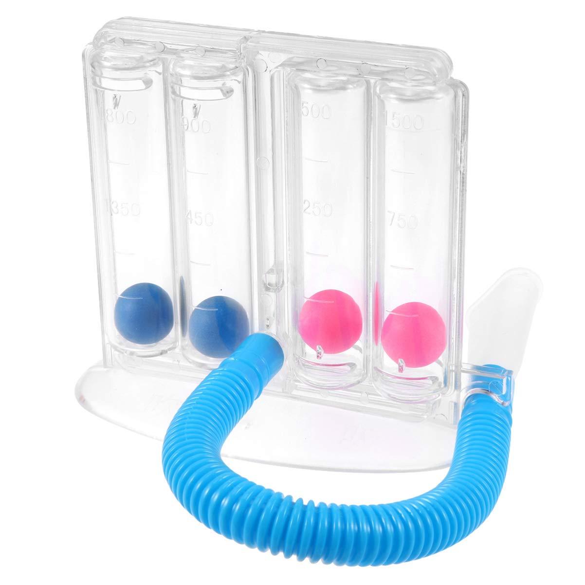 iplusmile Dispositivo de Ejercicio de Respiración - Respirador de Pulmón de Respiración Profunda Sistema de Medición de La Respiración de La Bola de Respiración Espirómetro Incentivo