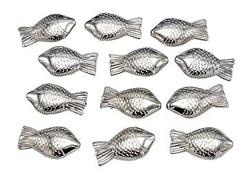 Amazon De 50 Fische Silber Kommunion Konfirmation Taufe Streudeko