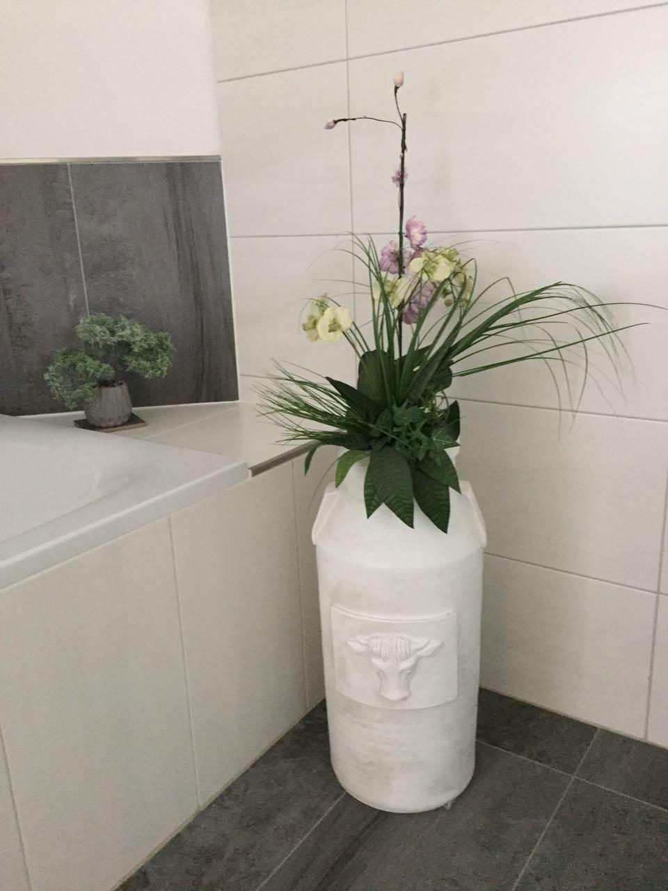 Satis Grosse Vase Milchkanne 60 Cm I Xxl Bodenvase Weiss Mit