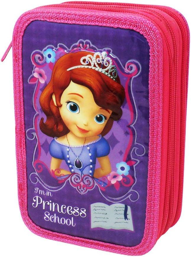 Estuche Disney Princesa Sofia para La Escuela Gran Capacidad 43 Piezas: Amazon.es: Oficina y papelería