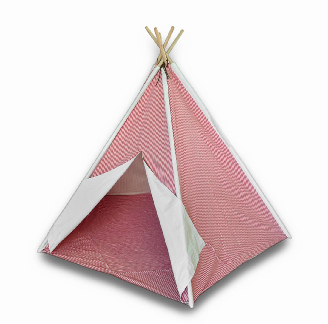 Amazon.com Children`s Canvas Teepee Tent Pink and White Pinstripes 72 In. Toys u0026 Games  sc 1 st  Amazon.com & Amazon.com: Children`s Canvas Teepee Tent Pink and White ...