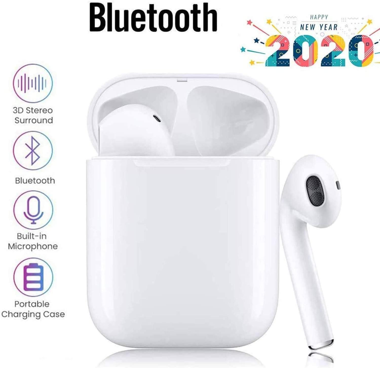 Auriculares inalámbricos Bluetooth,Estéreo In-Ear, Conveniente estuche de carg Wireless Earbuds Deportivos Headsets con Micrófono Reducción de Ruido Cascos para iPhone Android AirPods Samsung