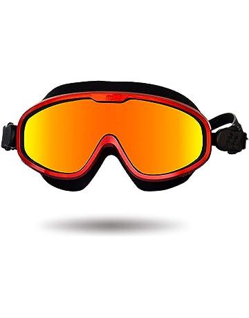Premium Polarized Big Large Frame Swim Goggles, Swimming Goggles Anti Fog No Leaking UV Protection