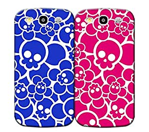 Jakerobinson Designed for Lovers-Pink and Blue Skulls TPU phone case for samsung galary s3-cheaper