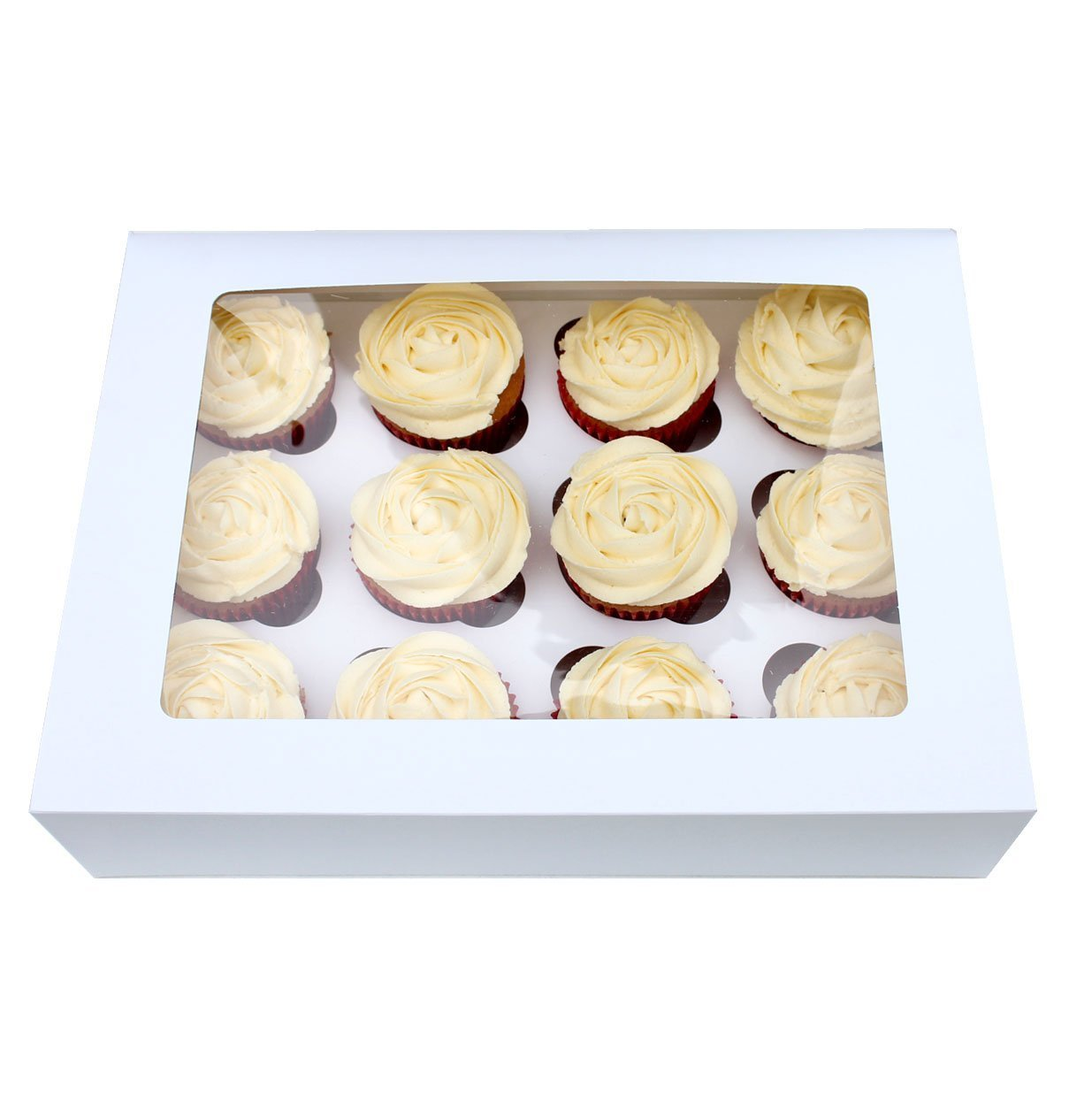 10 x 4 Caivty Cupcake boxes with window and inserts PACK N TRADE