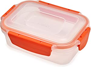 Joseph Joseph 81091 Nest Lock Plastic Food Storage Container with Lockable Airtight Leakproof Lid, 18 oz, Orange
