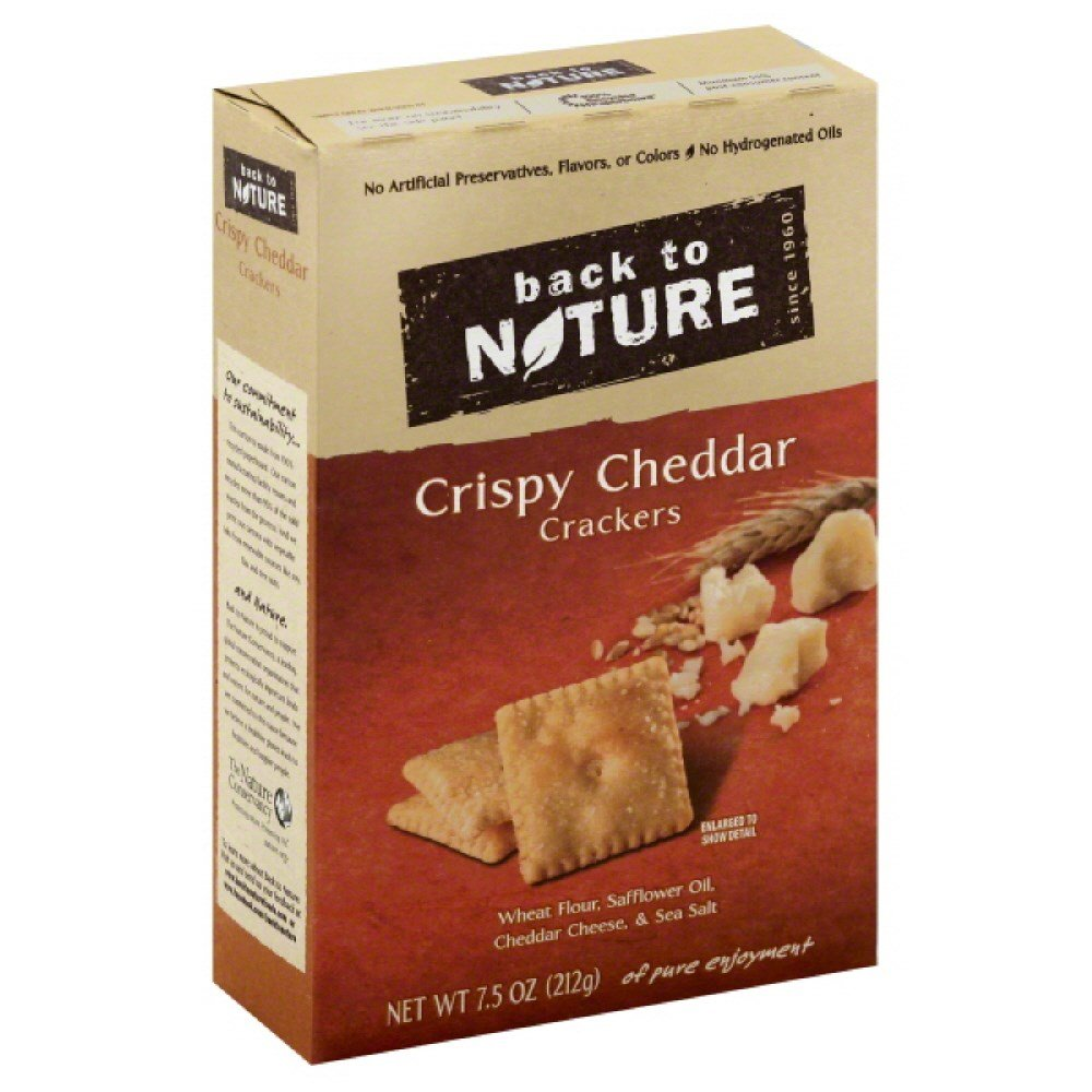 Crispy Cheddar Crackers 7.50 Ounces (Case of 6)