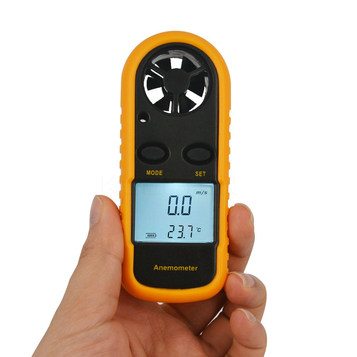 C-Zone 2016 Hot Digital LCD CFM/CMM Thermo Anemometer + Infrared Thermometer For Wind Speed Gauge Meter Temperature