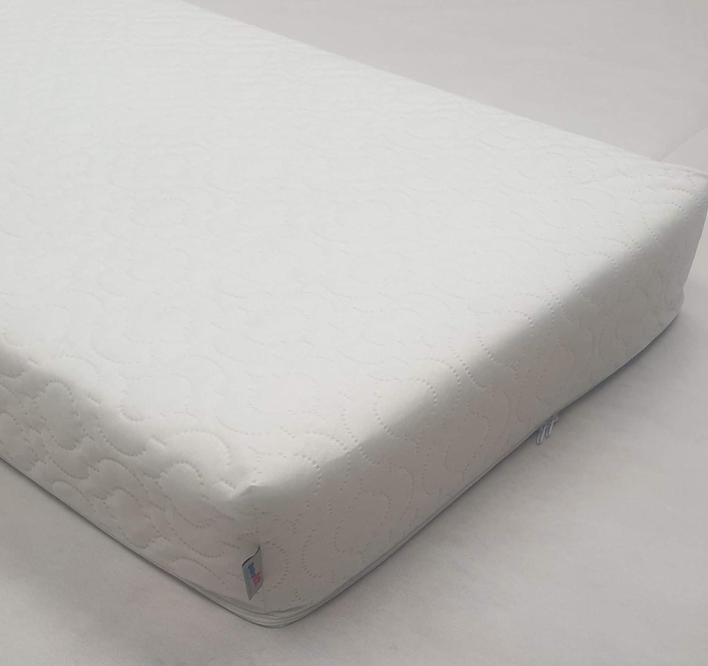 NZ Crib Colch/ón Infantil Beb/é Transpirable Impermeable Cuna Colch/ón 100x70x7.5 cm