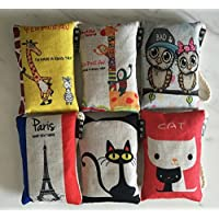 Natural Air Purifier Bamboo Charcoal Bag Air Freshener Most Effective Odor Remove Portable Cute Cartoon Air Freshener for Fridge, Freezers, Closet, Car & Shoes(100g X 6 Pack)