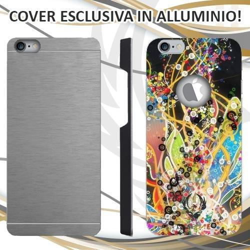 CUSTODIA COVER CASE ABSTRACT FANTASY PER IPHONE 6 6S IN ALLUMINIO