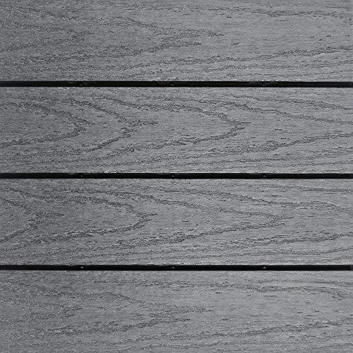 NewTechWood US-QD-ZX-GY Ultrashield Naturale Outdoor Composite Quick Deck Tile (10 Case), 1
