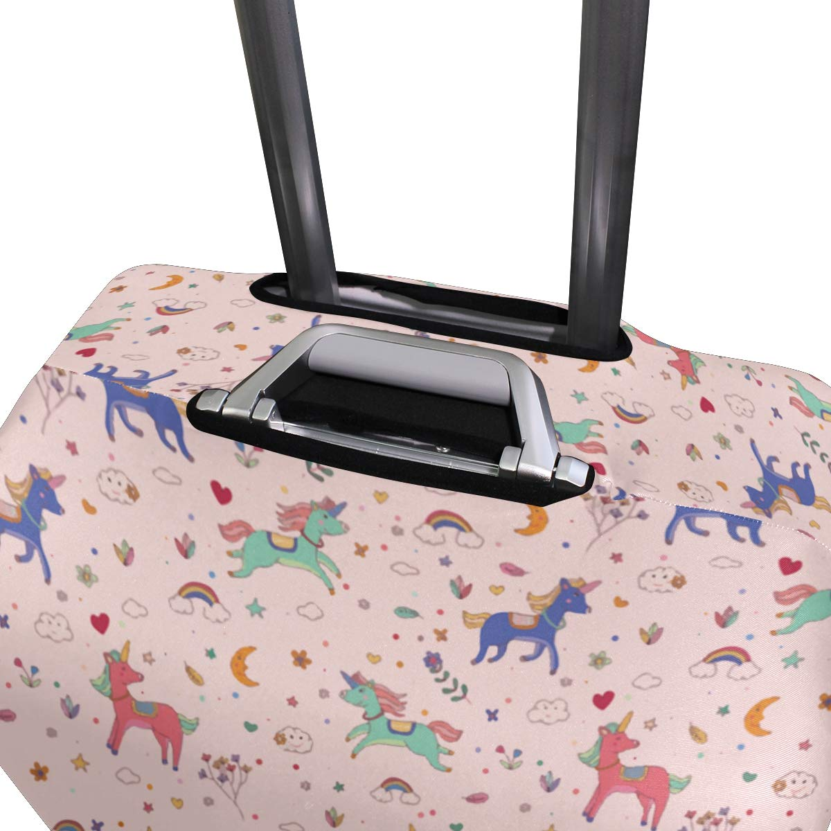 Have Diligent Unicorn Travel Suitcase Protector Zipper Suitcase Cover Elastic