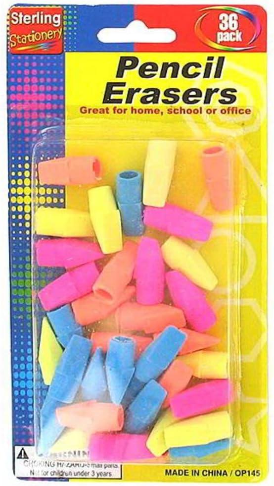 B004WQVBEC STERLING Pencil Top Erasers, Case of 48 61Cv39irrmL