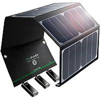RAVPower 24W Solarladegerät mit 3 USB iSmart-Port, 21,5-23,5% Umwandlungseffizienz, leicht, faltbar, wasserdicht für Camping Wanderung Bergsteigerei für iPhone, iPad, Galaxy Series, HTC usw.