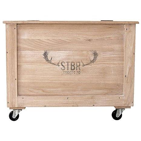 Caja de madera caja de almacenaje con cajón de almacenaje de juguetes de rollos de papel