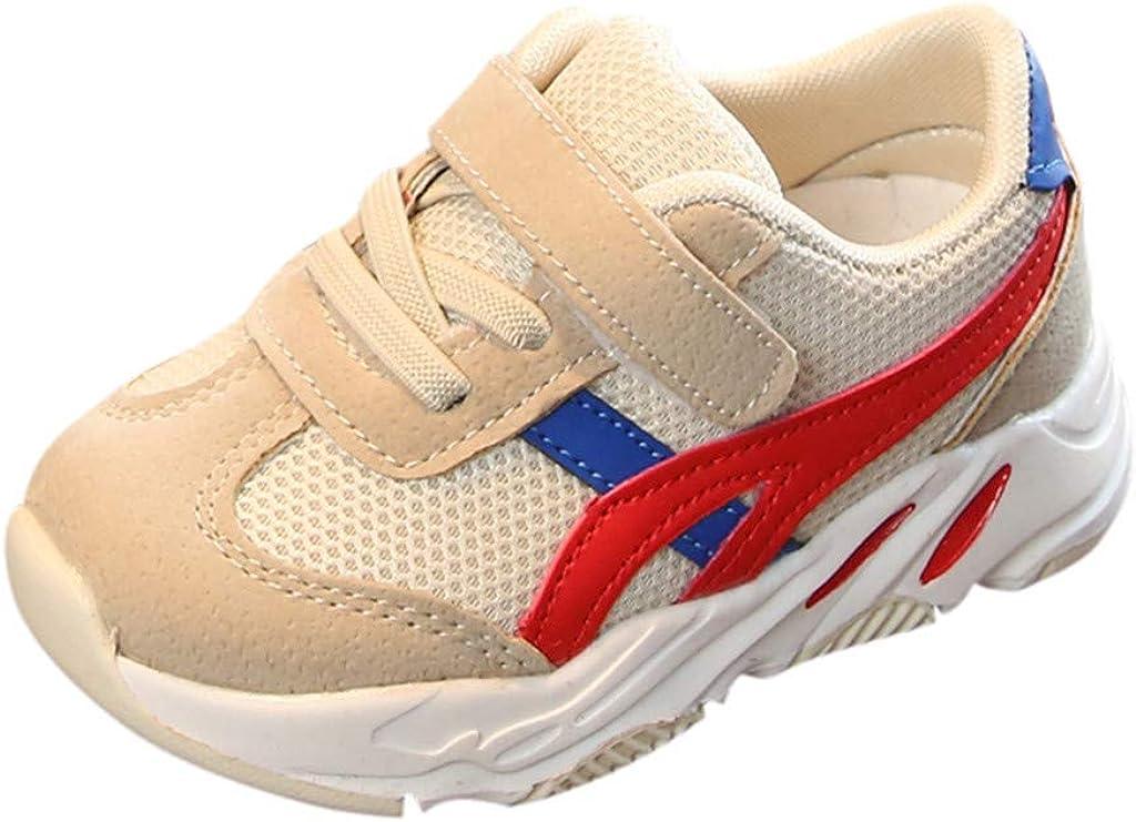 Dsoo - Zapatillas de Running para niños (Malla Transpirable, Correa Casual), Beige (Beige), 22 EU: Amazon.es: Zapatos y complementos