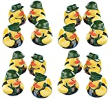 Pack Of 16 Camouflage Rubber Ducks - Camo Special Forces Soldier Duckys