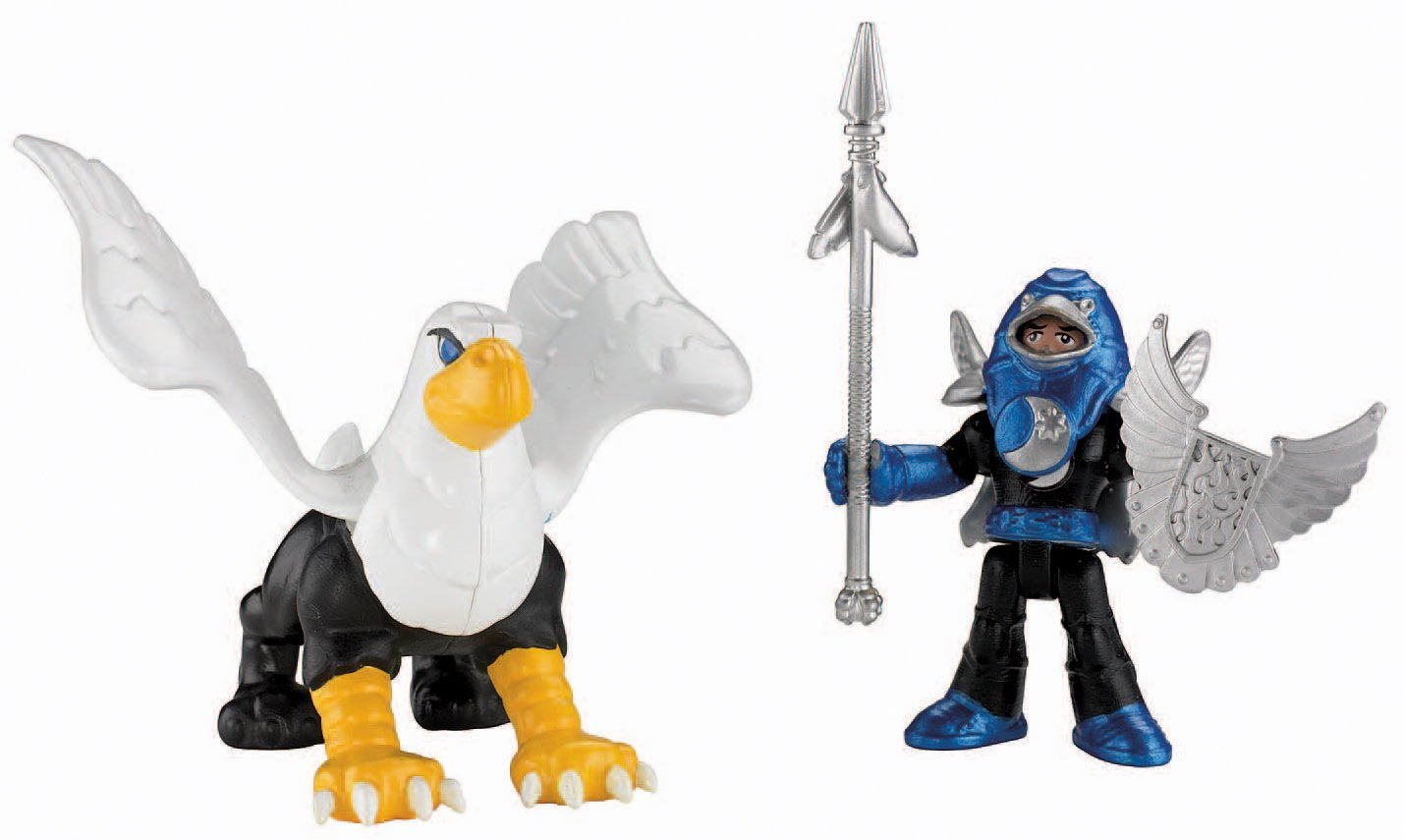 Fisher Price Imaginext Eagle Talon Castle Knight and Griffin