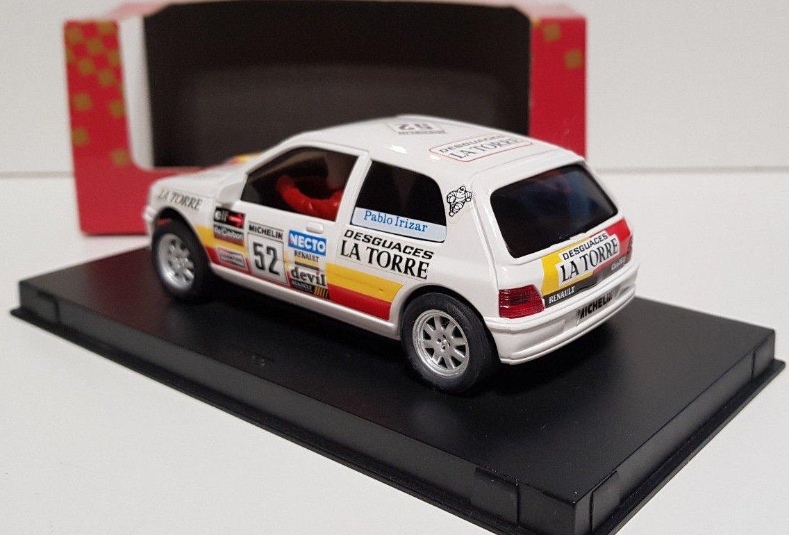SCX Scalextric Slot Ninco 50101 Renault Clio 16V Plablo Irizar: Amazon.es: Juguetes y juegos