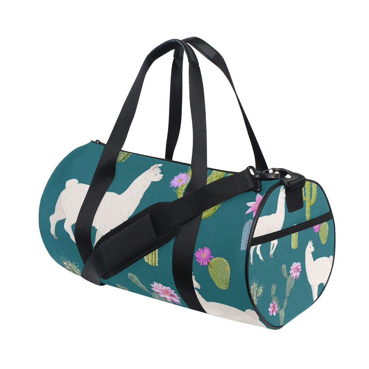 Llama And Cactus Seamless Pattern Travel Duffle Bag Sports Luggage with Backpack Tote Gym Bag for Man and Women
