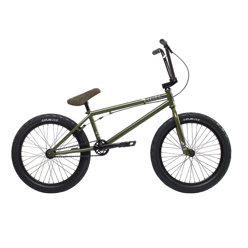 自転車 bmx STOLEN ストーレン HEIST SATIN SNIPER GREEN 20インチ 完成車 完全組立 S068 B074KBL8KP  STAIN-SNIPER-GREEN HEIST