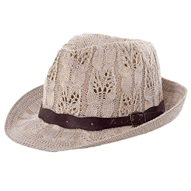 HX fashion Gorros Sombrero De Panamá Moda para Mujer Sombrero De ...