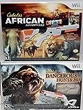 Wii/Wii-U Cabela's African Adventures & Dangerous Hunts 2013 Game Bundle Set