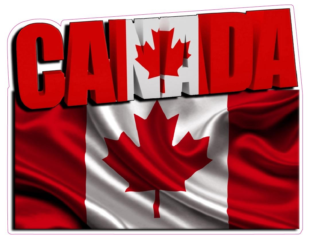 Canada Flag Decal Large 10