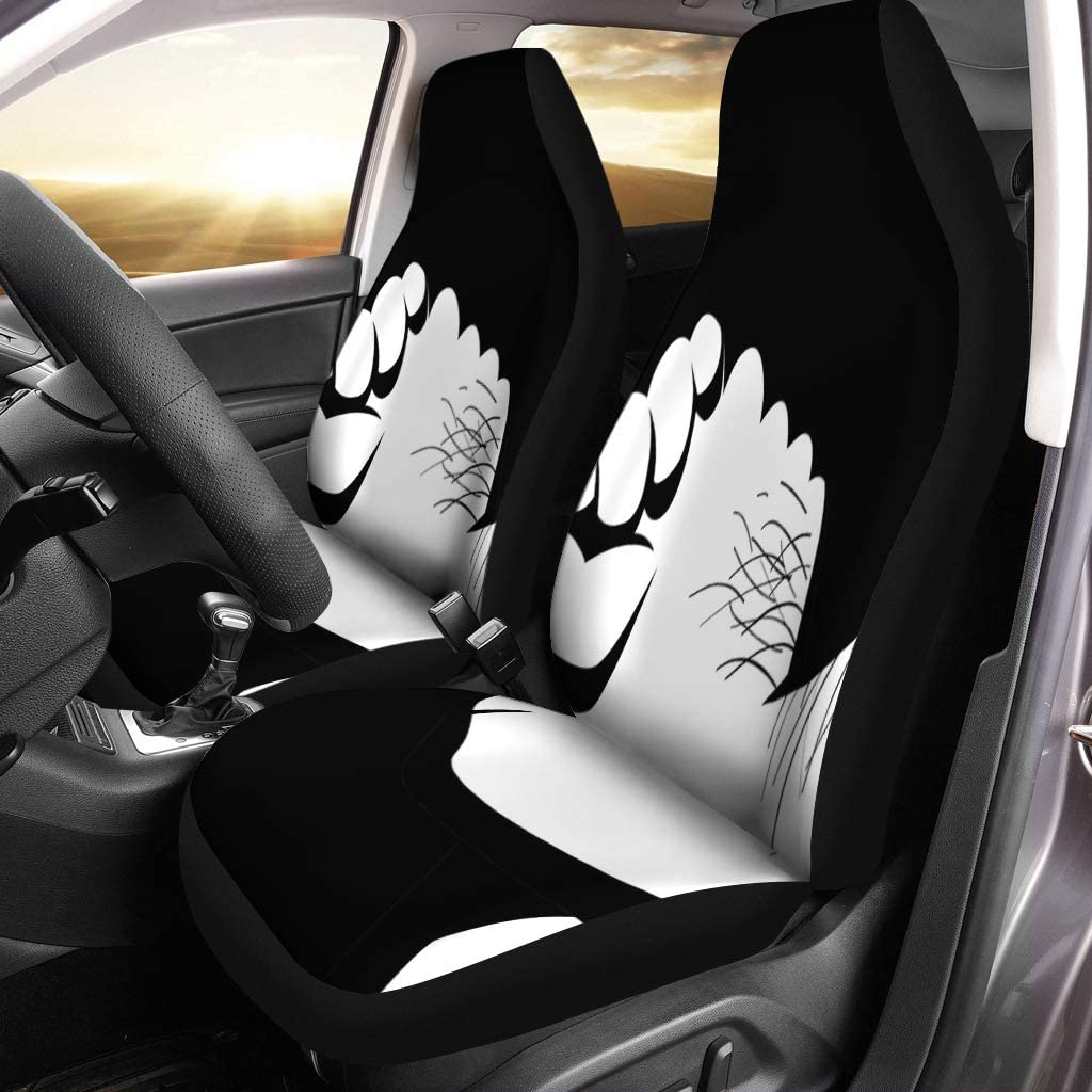Semtomn Set of 2 Car Seat Covers High Redraw of Targaryen Heraldic Sign Song Ice Universal Auto Front Seats Protector Fits for Car,SUV Sedan,Truck