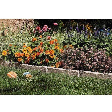 Suncast Border Stone Edging for Garden Landscaping, Taupe-Gray