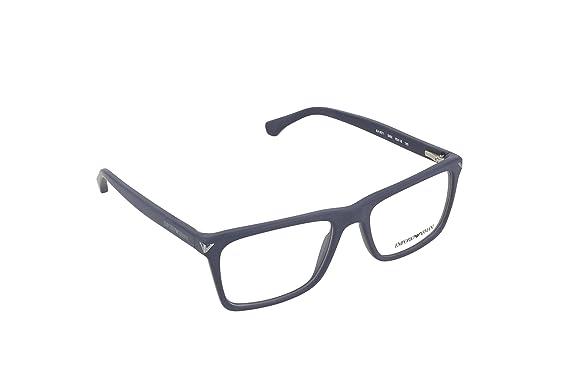 e1c8ec8691d Image Unavailable. Image not available for. Color  Armani EA3071 Eyeglass  Frames 5452-55 - Matte Blue ...