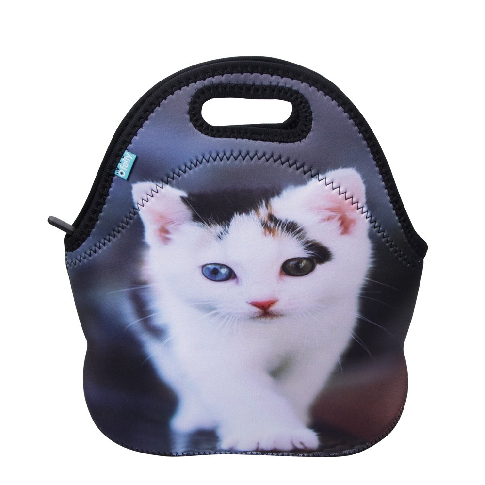 Neoprene Lunch Tote, OFEILY Insulated Lunch Bag with animal printed (Middle, Cat 1)