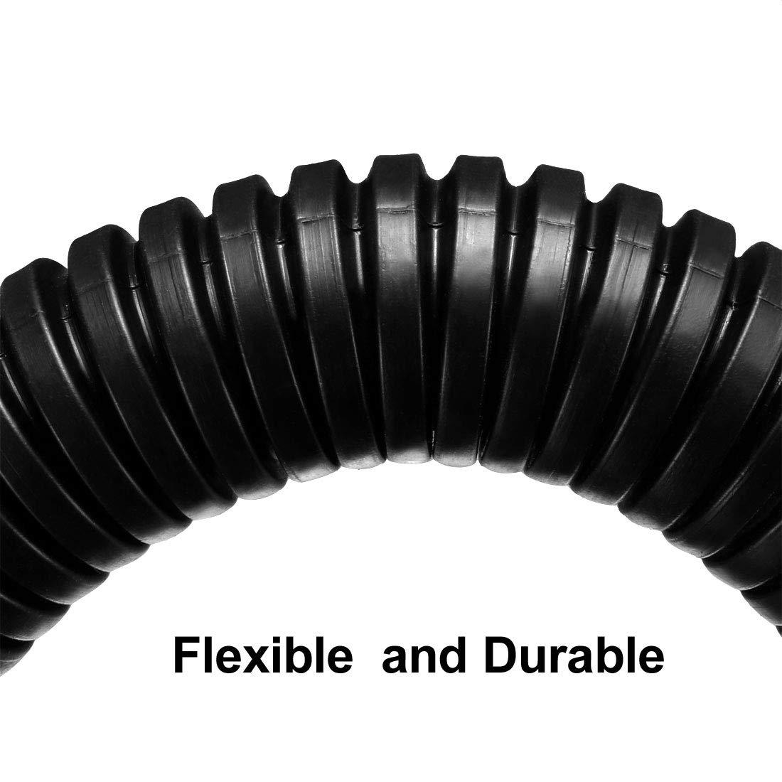 sourcing map conducto de tubo corrugado de polietileno PP tubo flexible manguera del 2