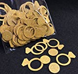 Toys : Fecedy Glittery Gold Ring Confetti for Wedding party decoration 200pcs/pack