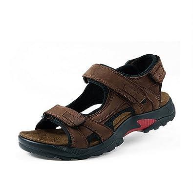 CCZZ Herren Sport Outdoor Sandalen Freizeit Schuhe Strandschuhe Pantolette Klettverschluss Sandal EVNmX