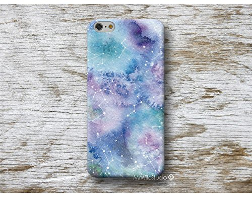 constellation aquarelle Coque Étui Phone Case pour Samsung Galaxy S9 S8 Plus S7 S6 Edge S5 S4 mini A3 A5 J3 J5 J7 Note 9 8 5 4 Core Grand Prime - designed by A.Miró Barcelona