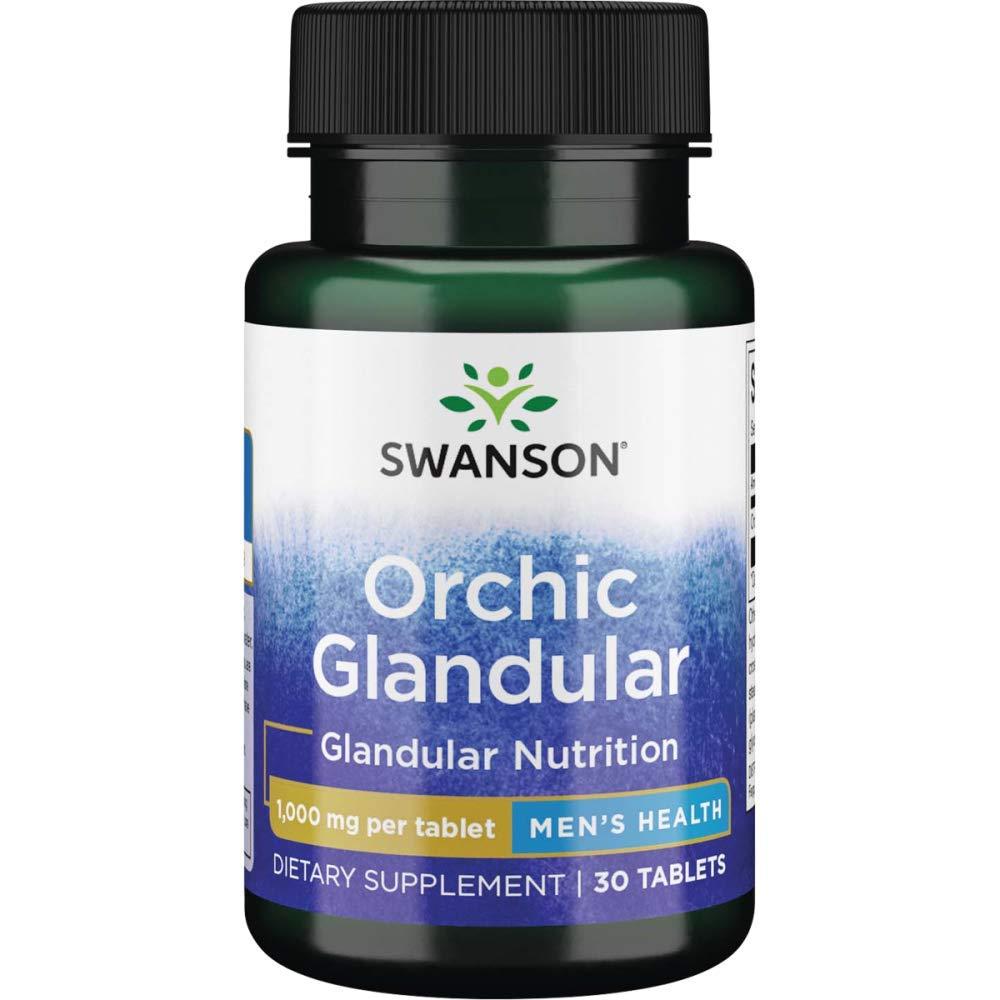 Swanson Raw Orchic Glandular 1 Gram 30 Tabs