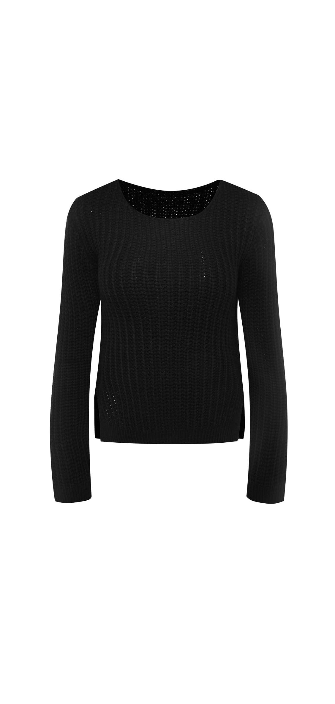 Women's Long Sleeve Caddice Crop Top Pullover Knit