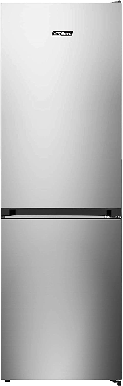 Conserv 11 cu. ft. Energy Star Bottom Large Freezer Refrigerator in Stainless with Reversible Door