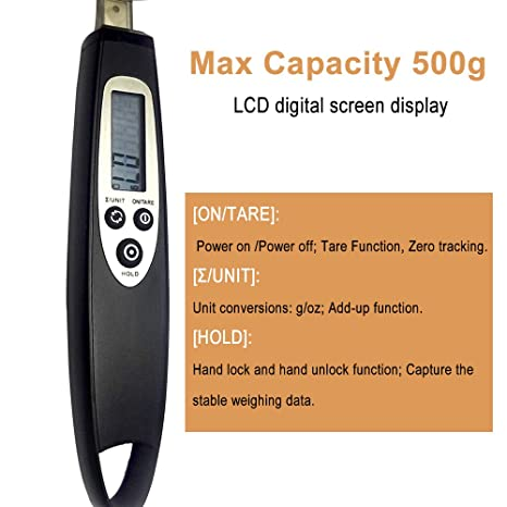 Meer Báscula de cocina, cuchara de medición electrónica digital inoxidable Báscula 500g / 0.1g Báscula de medición precisa para cocinar, hornear, ...