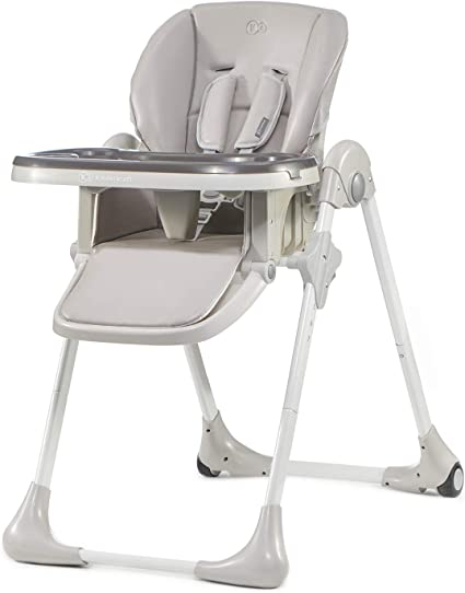 Ghế ăn cho trẻ em Kinderkraft YUMMY, có thể gập lại, có thể điều chỉnh, dễ vệ sinh, Gri