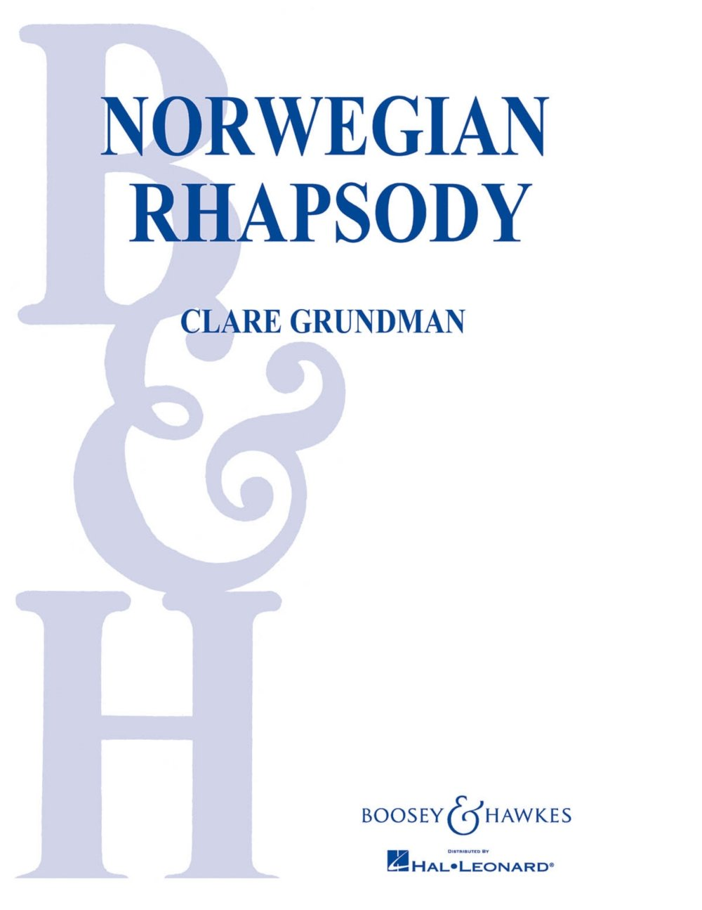 Read Online Norwegian Rhapsody - Full Band Score PDF
