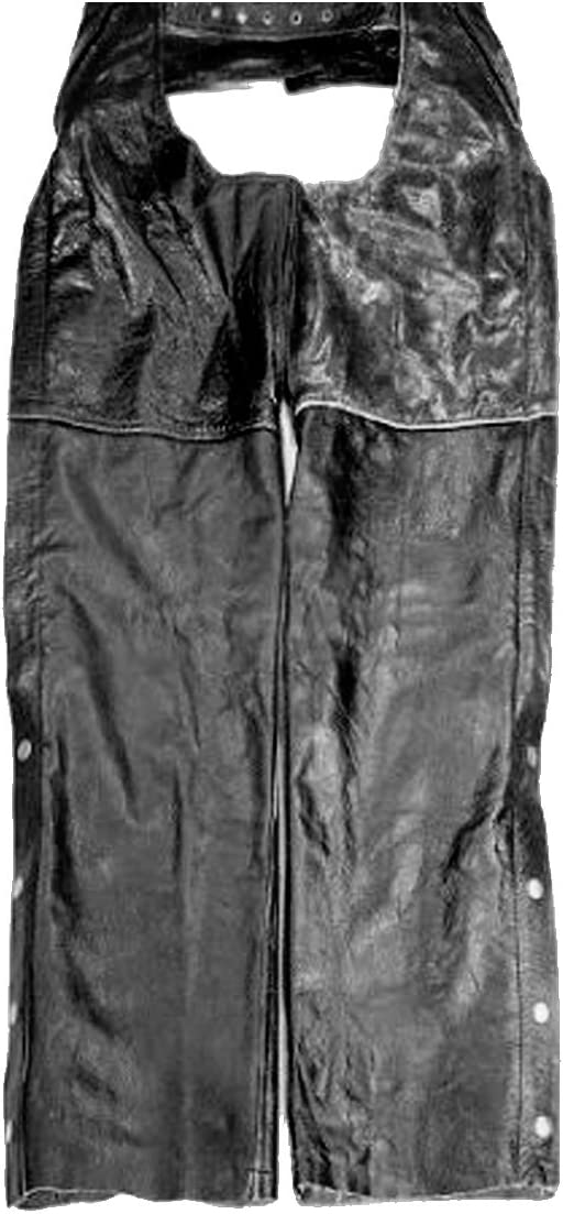 The Nekid Cow Premium Mens Brown Bomber Jacket Styled Leather Motorcycle Riding Chaps with Zip-Out Insulated Lining and Full Pockets 2X