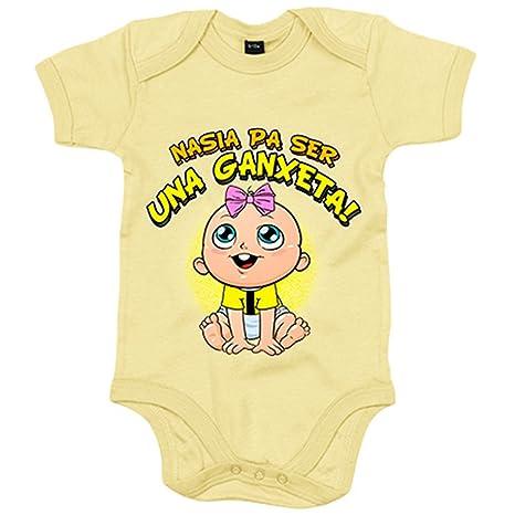 Body bebé nacida para ser una Ganxeta Reus fútbol - Amarillo ...