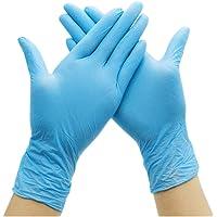 L 100 PCS Guante de nitrilo Disposable Protective Gloves de 100 Piezas sin Polvo y Resistentes al Desgaste para Servicios de Catering//Limpieza//Barbacoa//Limpieza de Mascotas//Belleza