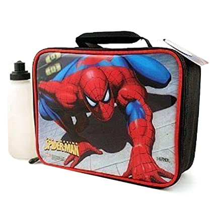 bf7756dfe9eb Image Unavailable. Image not available for. Color  Thermos Spiderman Soft  Sided Lunch Kit Box